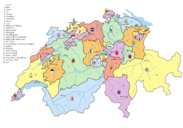 The 26 Cantons of Switzerland