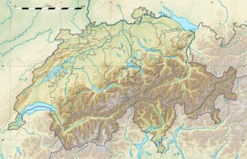 Relief map of Switzerland
