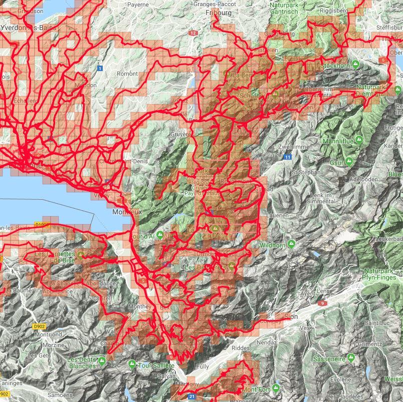 Veloviewer Explorer tiles 2018 Alps