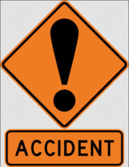 Accident sign