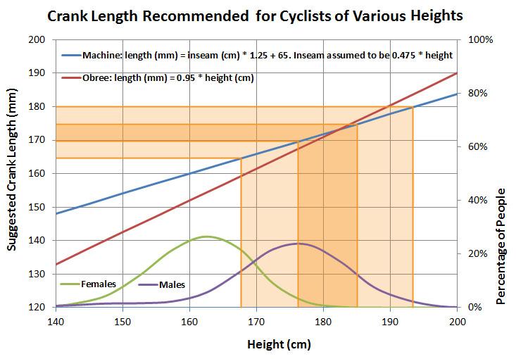 bike crank length vs height