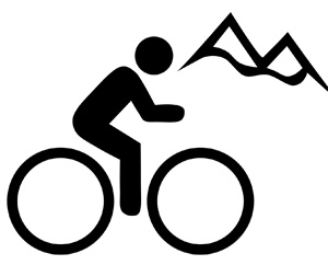 Cyclist & mountains