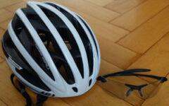 Bike helmet & sunglasses